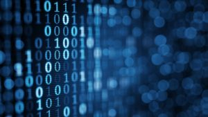 Cyber Security Binary code analyse background