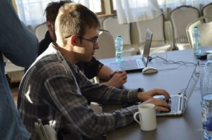 hacker at ctf competition